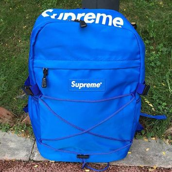 CASUAL Supreme Canvas Backpack College High School Bag Travel Bag