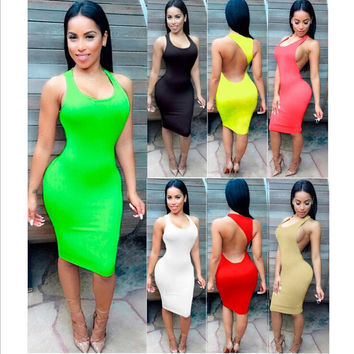 S-XXXL 7 colors women summer dresses 2016 summer beach dress sexy mini dress nigh club club wear plus size women clothing TX060