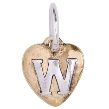 "Waxing Poetic Heartswell Insignia Letter ""W"" Charm"