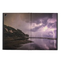 Lightning Strikes with Dark Clouds over Water iPad Air Cover