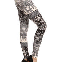 Cathedral Black & White Leggings