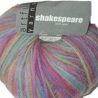 Artful Yarns Shakespear Wool Pastel Blend Soft, Blue, Green, Pink