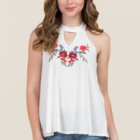 Raina Gigi Floral Embroidered Tank