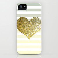 GLITTER GOLD HEART iPhone & iPod Case by colorstudio