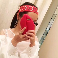 GUCCI Sport Crochet Knit Knitted Headwrap Headband Warmer Head Hair Band I