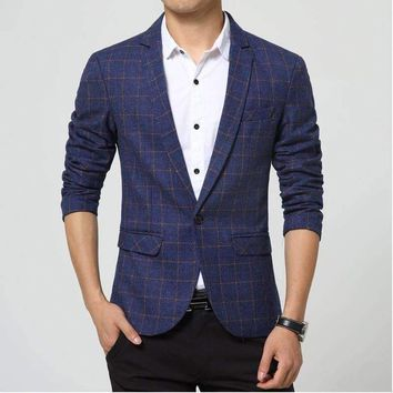 men singersplaid dress suit jacket brand clothing mens casual suits korean slim small western singers dress