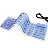 USB cable soft Silicon keyboard dust-proof waterproof,Ultra Thin/Slim & Quiet,Rollable Portable Foldable,For PC,Notebook,Laptop