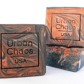 Activated Charcoal Soap – Natural Body Soap, Detox Soap, Sandalwood Soap, Unscented Soap with Organic Ingredients, Vegan Soap