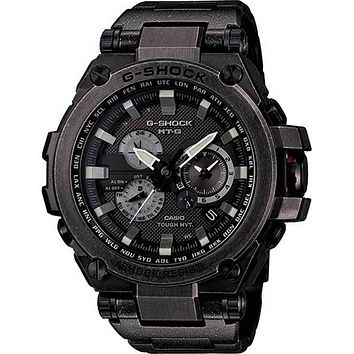 Casio G-Shock Solar Triple-G Atomic Watch - Black Stainless Steel Case
