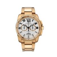 Cartier Calibre Chronograph Rose Gold Men's Watch W7100047