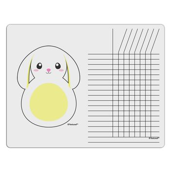 Cute Bunny with Floppy Ears - Yellow Chore List Grid Dry Erase Board by TooLoud