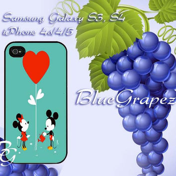 Mickey and Minnie Mouse Love Ballon Design for iPhone 4, iPhone 4s, iPhone 5, Samsung Galaxy S3, Samsung Galaxy S4 Case
