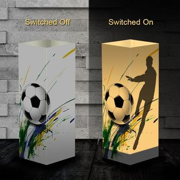 Soccer Player Shadow illusion Lamp