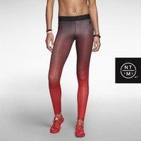 Nike Pro England Print Women's Tights - Challenge Red