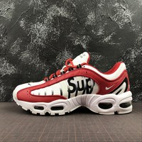 Supreme x Nike Air Max Tailwind IV 4 White Red Sport Running Shoes - Best Online Sale