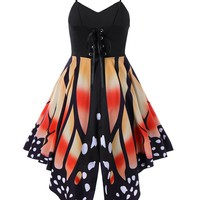 Multi-Colored Butterfly Straps Dress