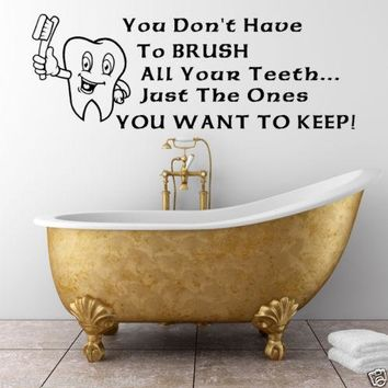 Brush your Teeth WALL STICKERS