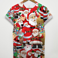 Santa All Over T Shirt