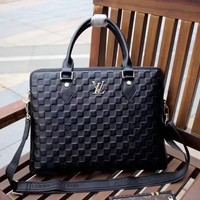 LV Louis Vuitton MEN'S DAMIER INFINI LEATHER BRIEFCASE BAG CROSS BODY BAG