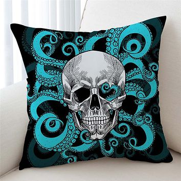Skull Tentacles Cushion Cover Octopus Tentacles Hand Decorative Pillow Case
