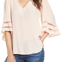 Chelsea28 Illusion Sleeve Top | Nordstrom