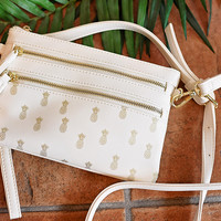 Pineapple Daze Handbag - White