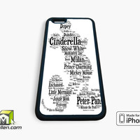 Disney Words Collage iPhone Case 4, 4s, 5, 5s, 5c, 6 and 6 plus by Avallen