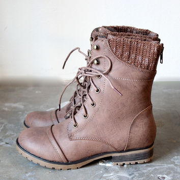 FINAL SALE - in the woods ankle sweater boot taupe