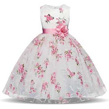 Fancy Flower Girls Dresses For Wedding Girls Party Kids Wear Dress For Girl 4  6  8 10 Years Birthday Children Summer Clothes