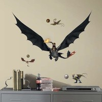 (18x40) How to Train Your Dragon 2 Hiccup & Toothless Peel and Stick Giant Wall Decals