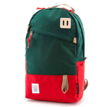 Daypack Forest Green/Red