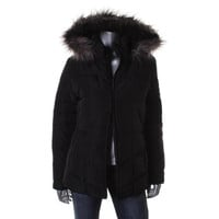 Calvin Klein Womens Down Hooded Puffer Coat