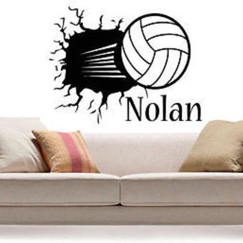 Volleyball Personalized decal Idea Kids Decor Wall Decal Art Vinyl Sticker tr294