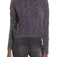 Woven Heart Chenille Turtleneck Sweater | Nordstrom