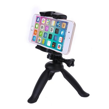 Mini Portable Flexible Tripod Aluminum Alloy 53-85mm Clip HandHeld Tripods Bracket Table Tops Selfie Stand with Phone Holder