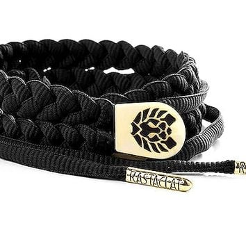 Rastaclat Onyx Shoelace Belt - Black | Hat Club