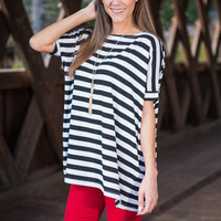 Story Time Top, Ivory-Black