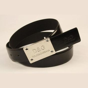 DCCKUH3 D&G Men Fashion Smooth Buckle Belt Leather Belt