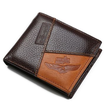 GUBINTU Genuine Leather Men Wallet Brand Designer Male Purse With Zipper Coin Pocket Best Gift carteira masculina--BID086 PM49