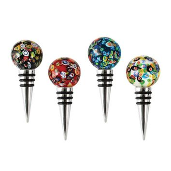 Confetti Glass Bottle Stopper