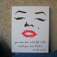 Marilyn Monroe Quotes 16 x 20 Hand Painted Art Canvas Wall Decor 3 Designs
