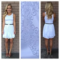 White Lorenzo Lace Dress