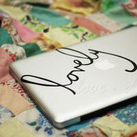 lovely-Decal for Macbook Pro, Air or Ipad Stickers Macbook Decals Apple Decal for Macbook Pro / Macbook Air