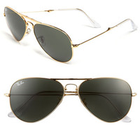 Ray-Ban 58mm Folding Aviator Sunglasses | Nordstrom