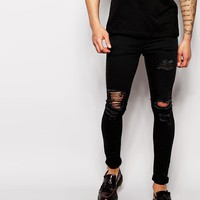 ASOS Extreme Super Skinny Jeans With Extreme Rips