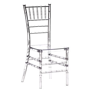 Polycarbonate Crystal Clear Chiavari Chair (Set of 4)