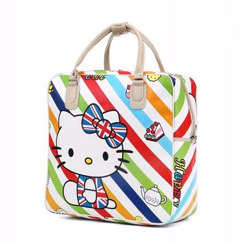 Hello Kitty Handbags Women Travel Duffel Bag Female shopping weekend tote Luggage Bags bolsa Bolsas Feminina Girls School Bag