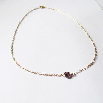 amethyst crystal necklace - great layered necklace -custom colors and lengths