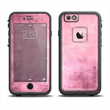 The Pink Grungy Surface Texture Apple iPhone 6 LifeProof Fre Case Skin Set