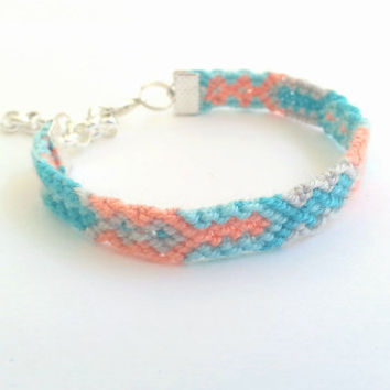 Friendship Bracelet in Pastels. by makunaima on Etsy